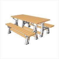 컨버터블 벤치 테이블 2X4